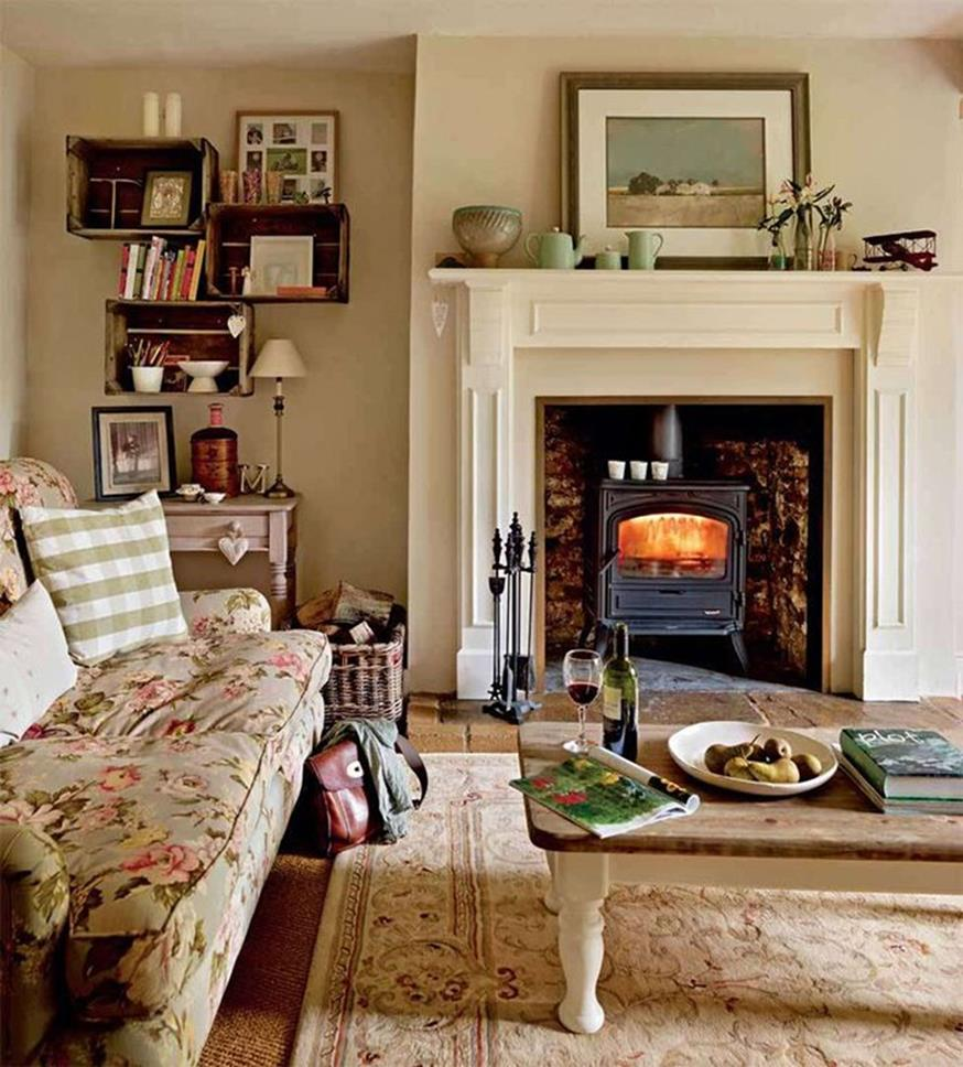 This Country Chic Living Room Is Everything Rachel: Country Style Living Room Furniture Ideas 2