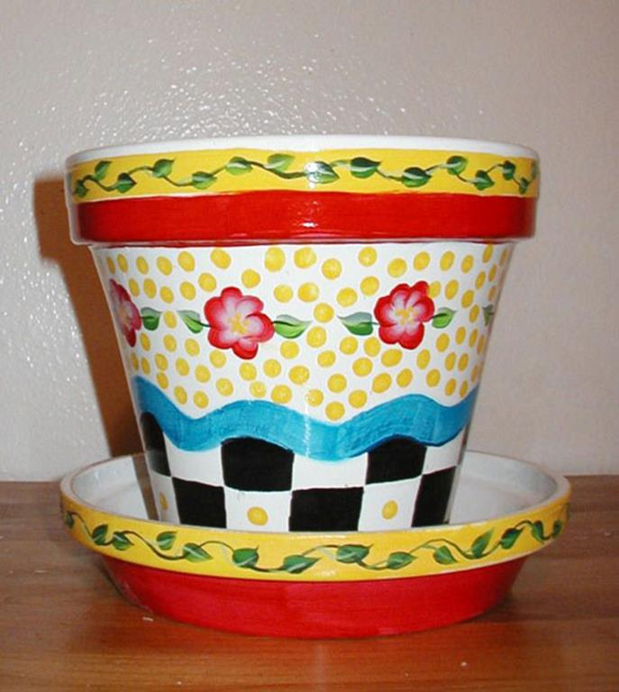 Diy easy flower pot painting ideas 25 decorelated for Diy flower pot designs