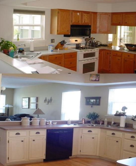 Painted Kitchen Cabinets Before And After 17