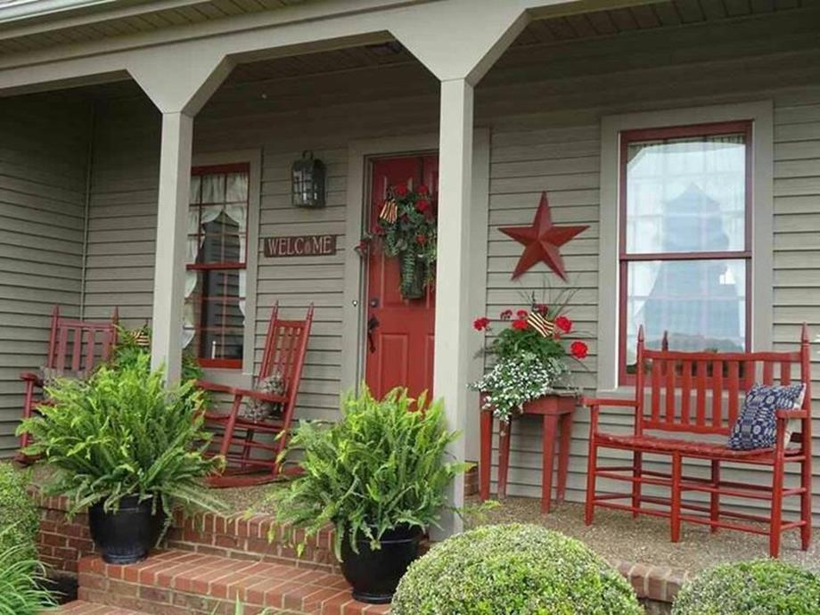 Country Front Porch Spring Decorating Ideas 6 - DecoRelated on Country Patio Ideas id=86218