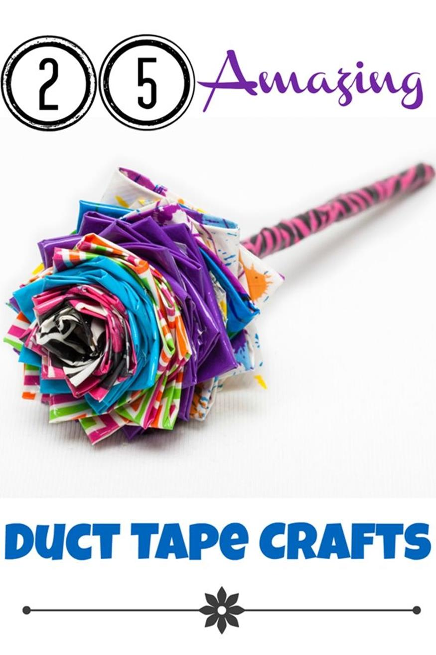 Diy easy crafts with duct tape 11 decorelated for Duct tape craft projects