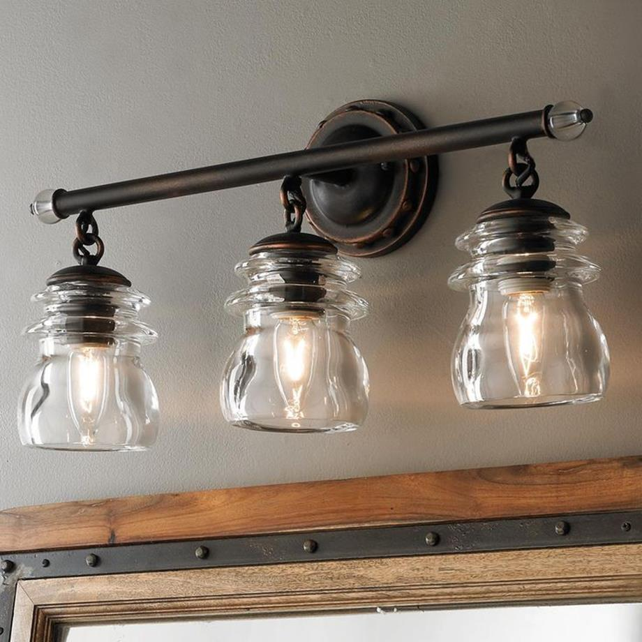 Farmhouse bathroom light fixtures ideas 14 decorelated for Inexpensive bathroom light fixtures