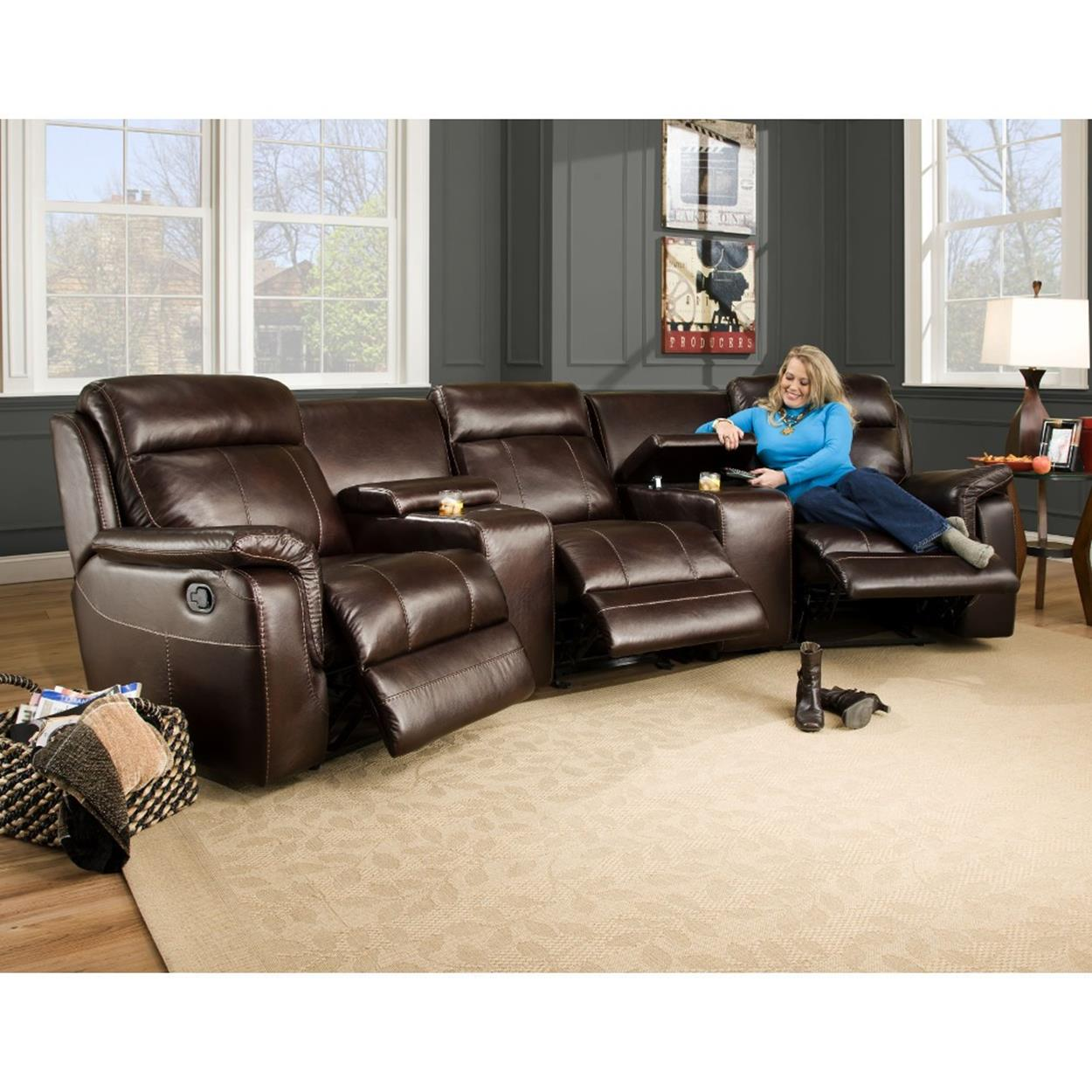 Living Room Theater Reviews: Home Theater Couch Living Room Furniture 29