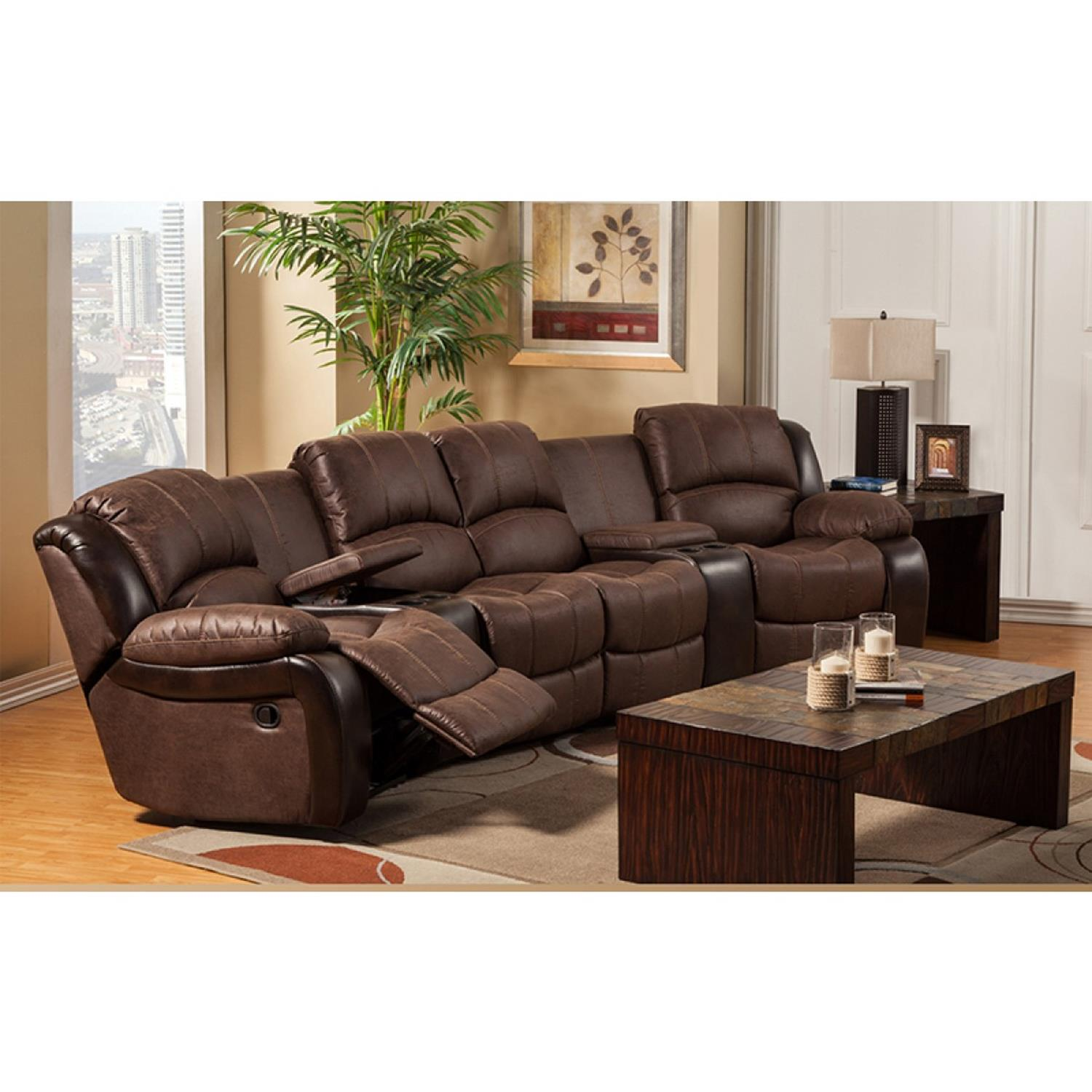 Living Room Theater Fau Phone Number: Home Theater Couch Living Room Furniture 5