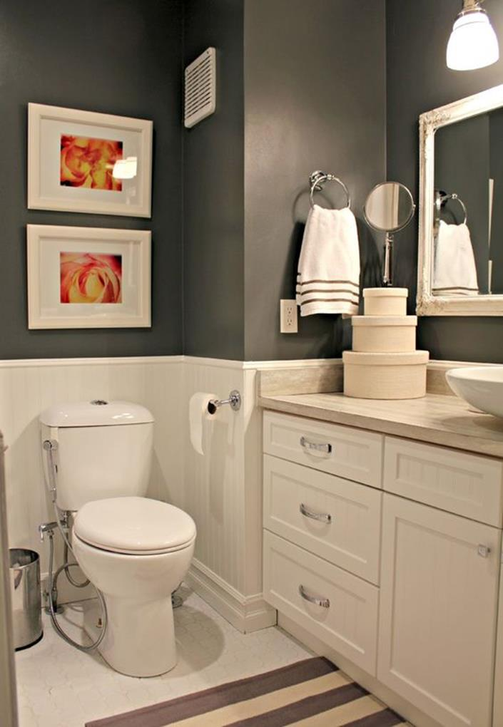 Stunning gray bathrooms with accent color ideas 10 decorelated for Bathroom mirrors orange county