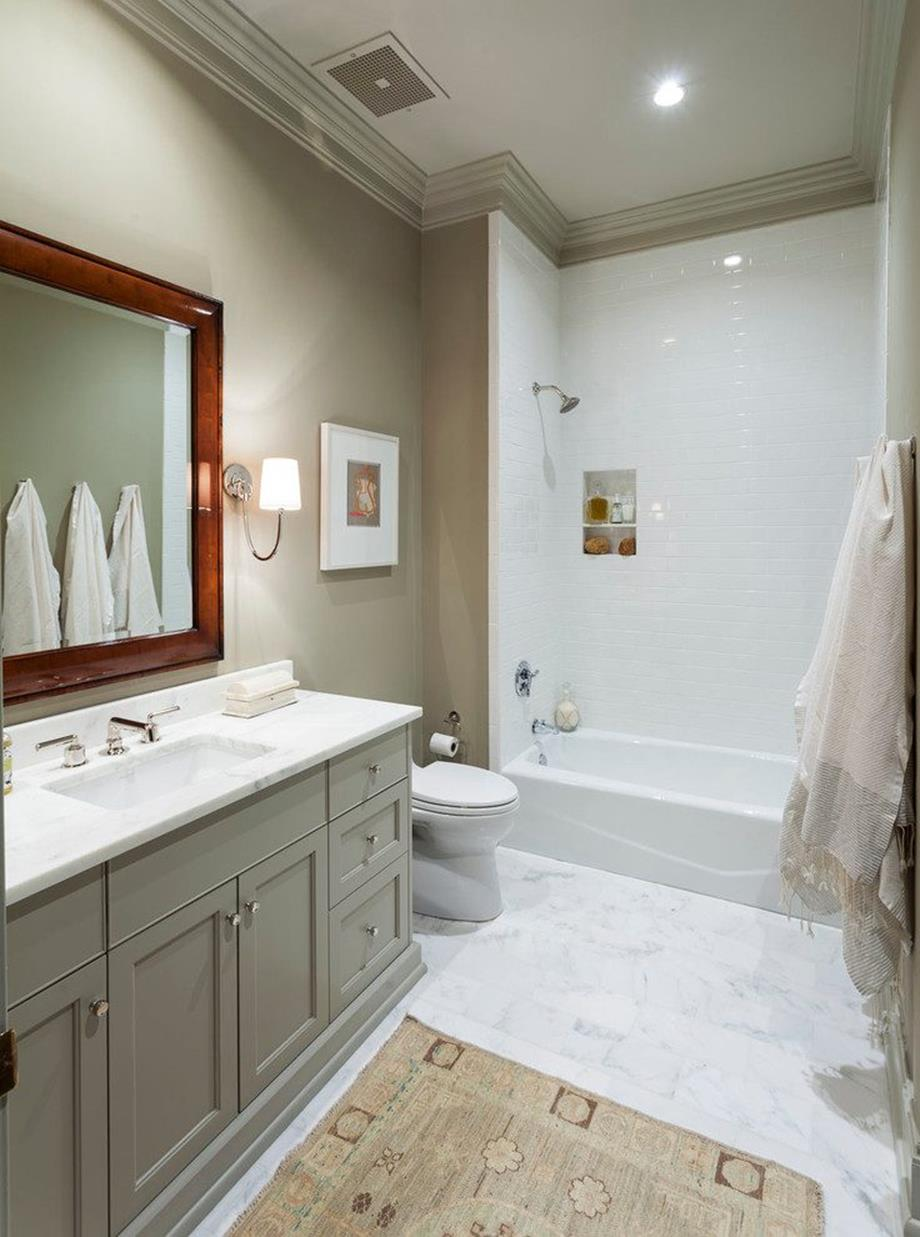Stunning gray bathrooms with accent color ideas 35 - Accent color for gray and white bathroom ...