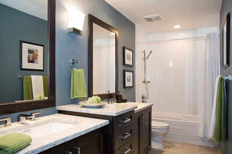 Stunning gray bathrooms with accent color ideas 38 - Accent color for gray and white bathroom ...