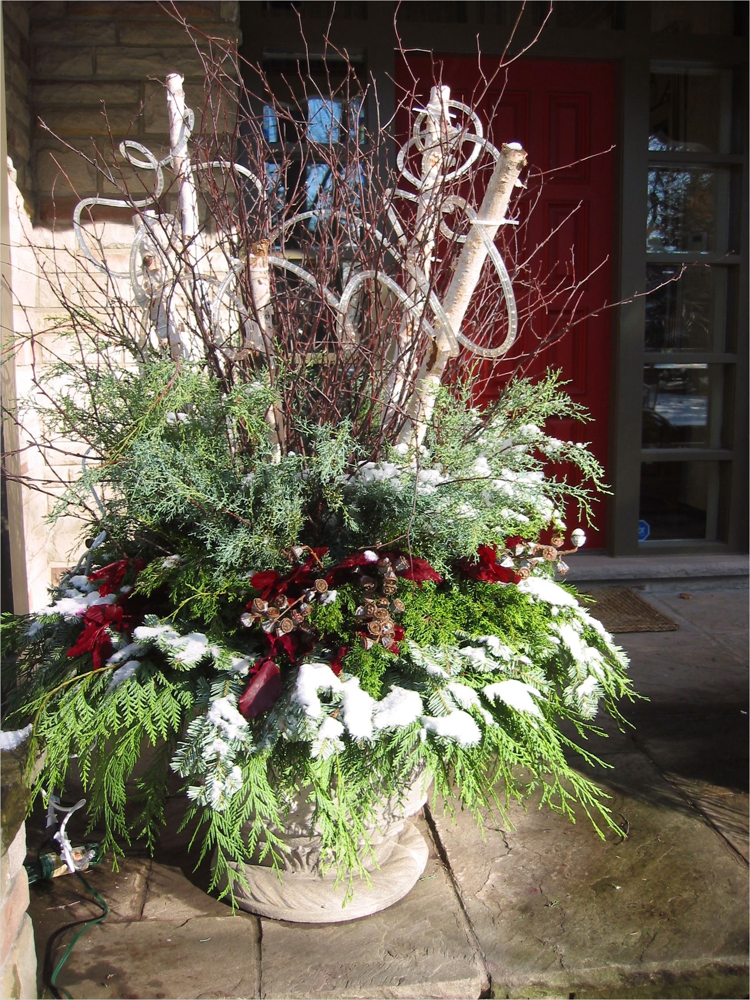 Christmas Outdoor Pot Decorations 2 Decorelated