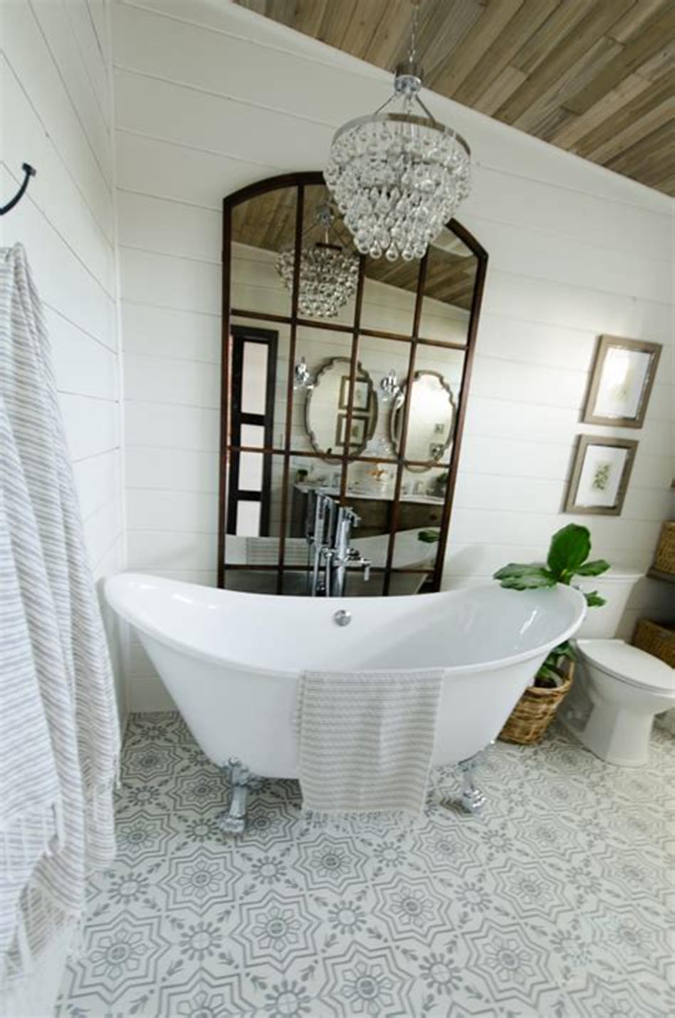 47 Best Farmhouse Master Bathroom Design and Decor Ideas ...