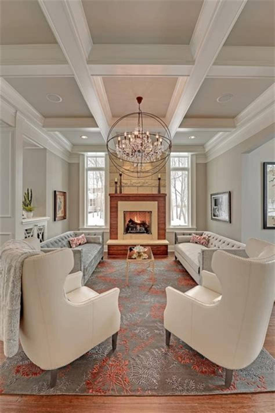 Down Ceiling Designs For Drawing Room: 55 Most Popular Transitional Living Room Design Ideas For